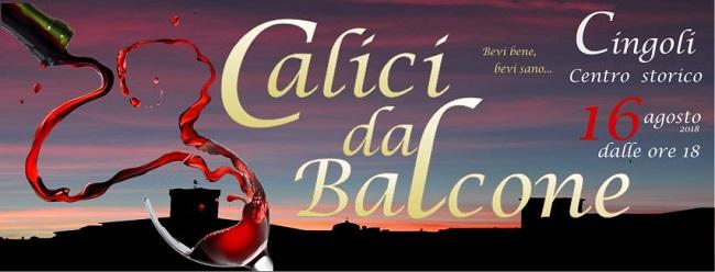 Calici dal Balcone, a Cingoli al sesta edizione