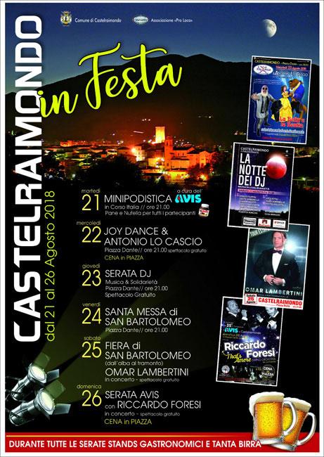 Castelraimondo in Festa 2018