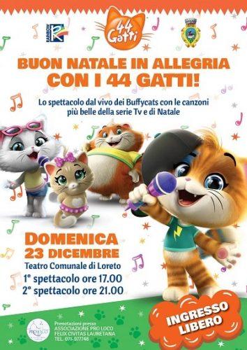 Testo Della Canzone Buon Natale In Allegria.A Loreto Buon Natale In Allegria Con I 44 Gatti