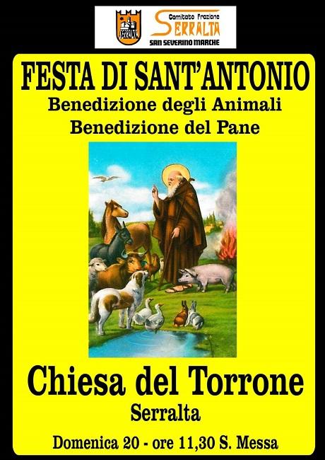 Tradizionale festa di Sant'Antonio a San Severino