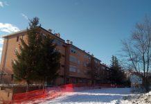 Camerino, demolizione palazzo nel quartiere Vallicelle