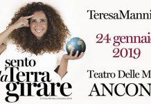 """Teresa Mannino in """"Sento la terra girare"""" al Teatro delle Muse"""
