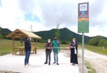 inaugurazione area sosta disabili san severino