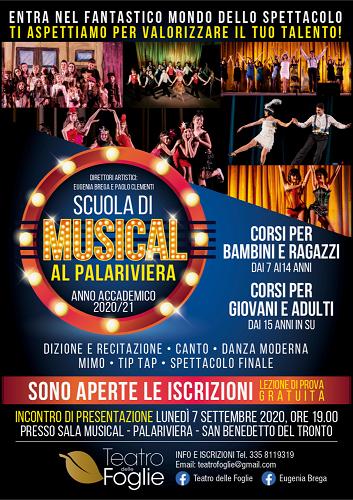 Locandina Scuola di musical 2020-21