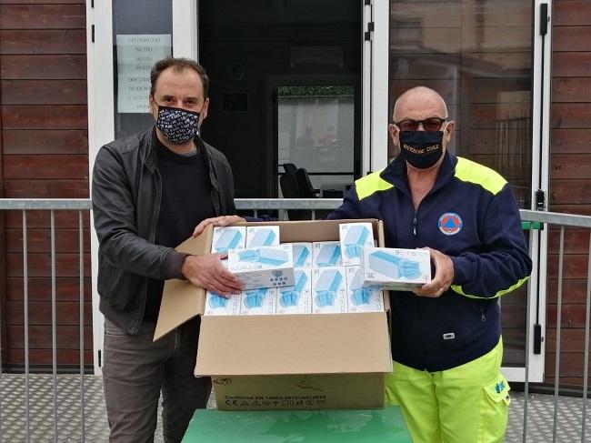 donazione mascherine san severino