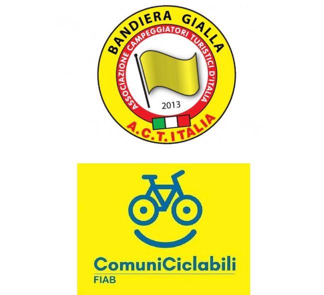 Bandiera gialla e ciclabile FIAB